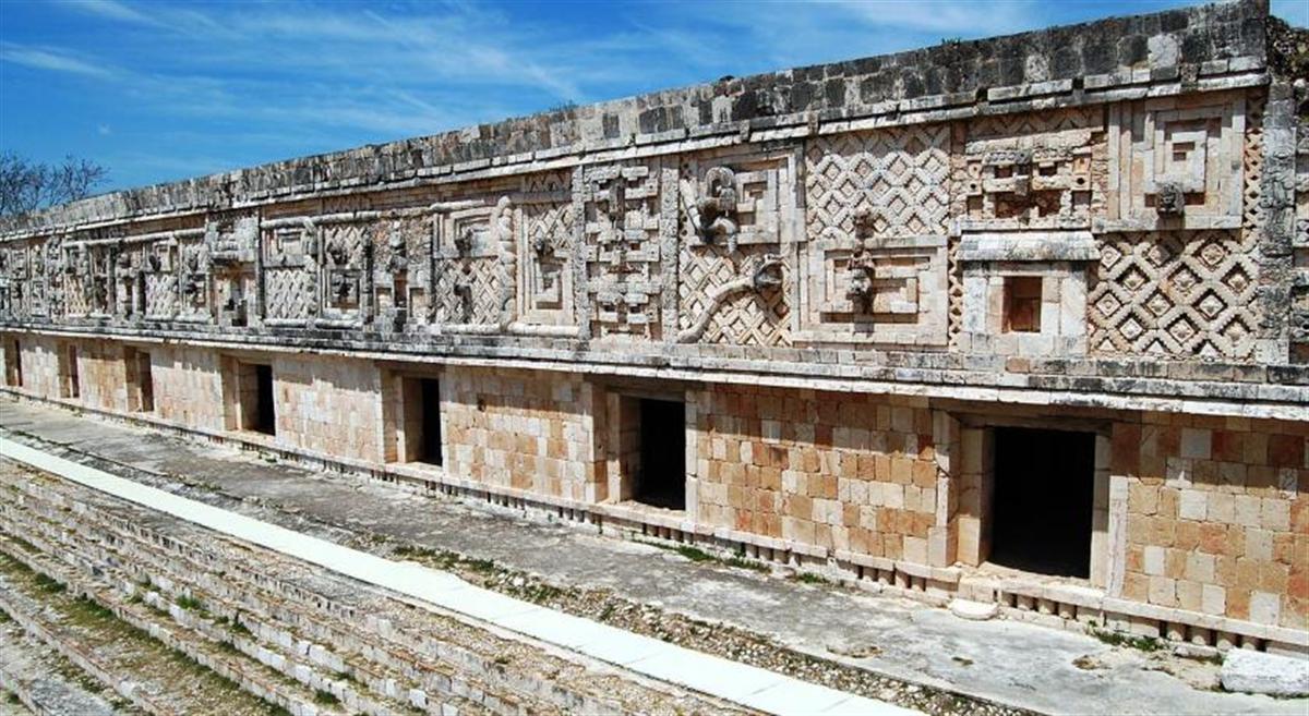 carte du site d'Ek Balam au Mexique