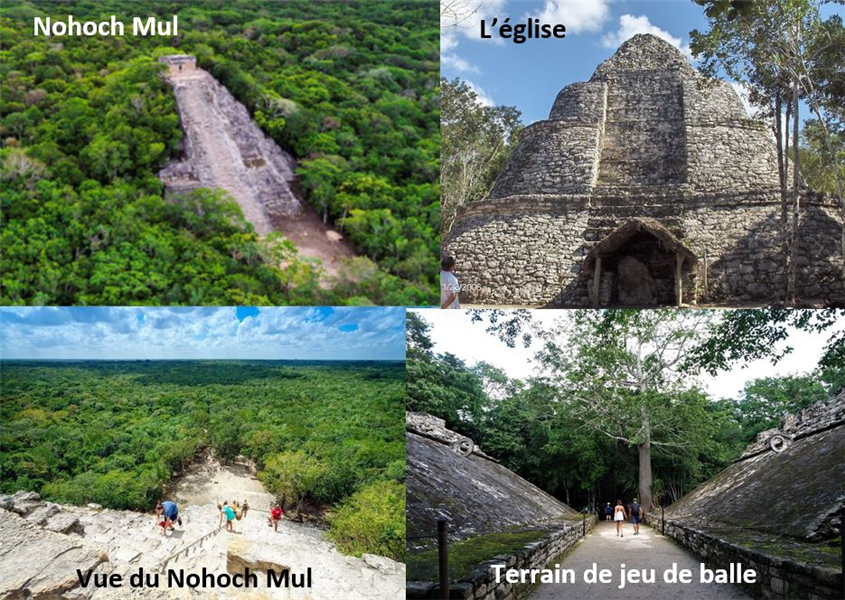 groupes du sites de Coba