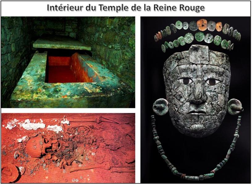 interieur du temple de la reine route à Palenque