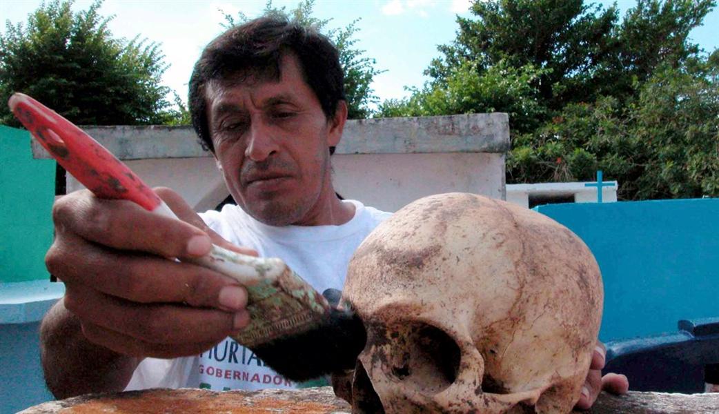 tradition a pomuch fête des morts au Mexique