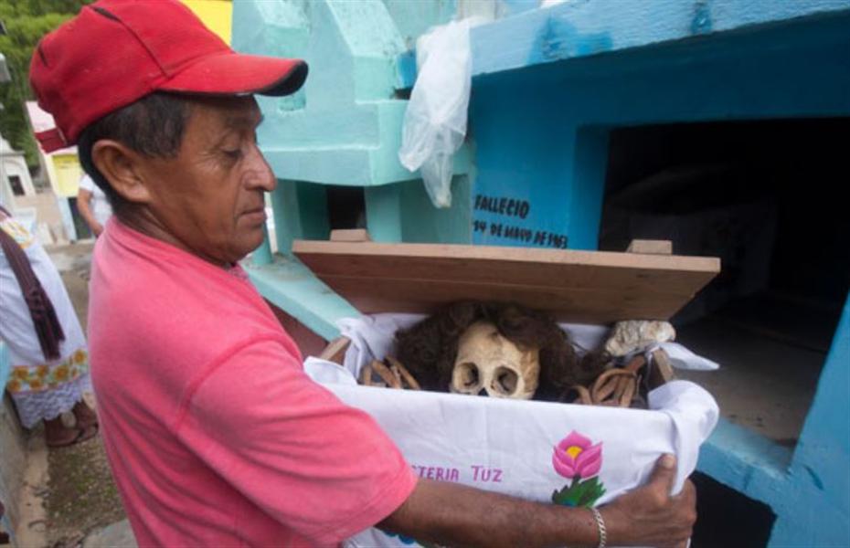 fête des morts au Mexique au cimetière de Pomuch