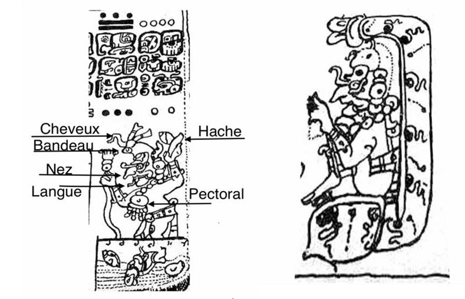 représentation du chaac sur la stèle de dresde et du chaac dans une grotte