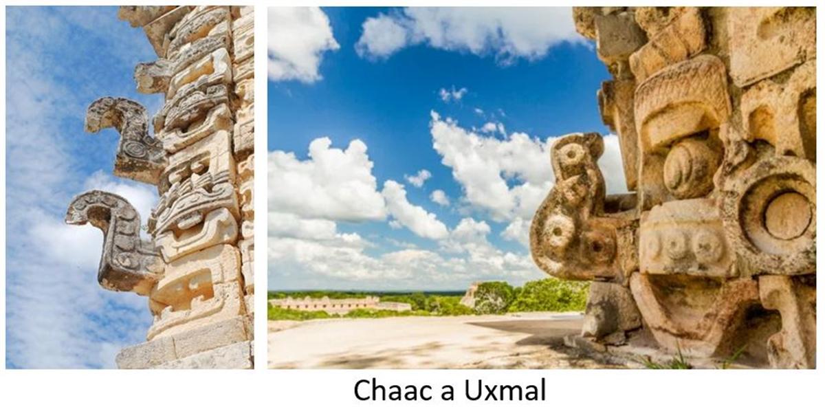 visiter Uxmal et voir les sculptures du Chaac sur les monuments