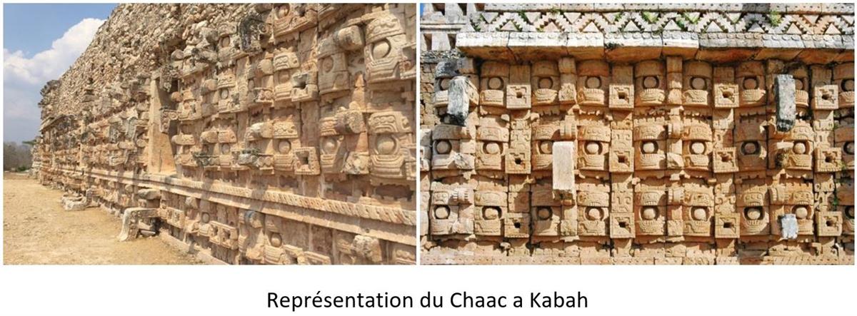 image du codz pop à Kabah représentant le chaac au Mexique