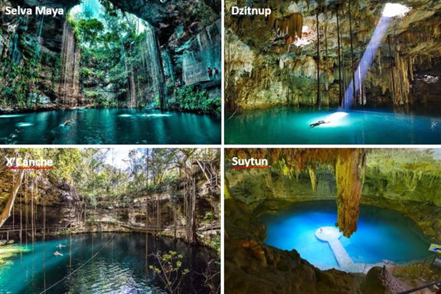 les cenotes proches de Valladolid au Yucatan