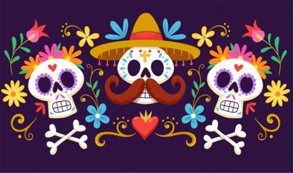 offrandes de la fête des morts au Mexique