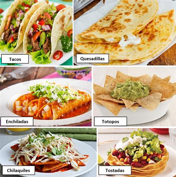 differents tacos au mexique