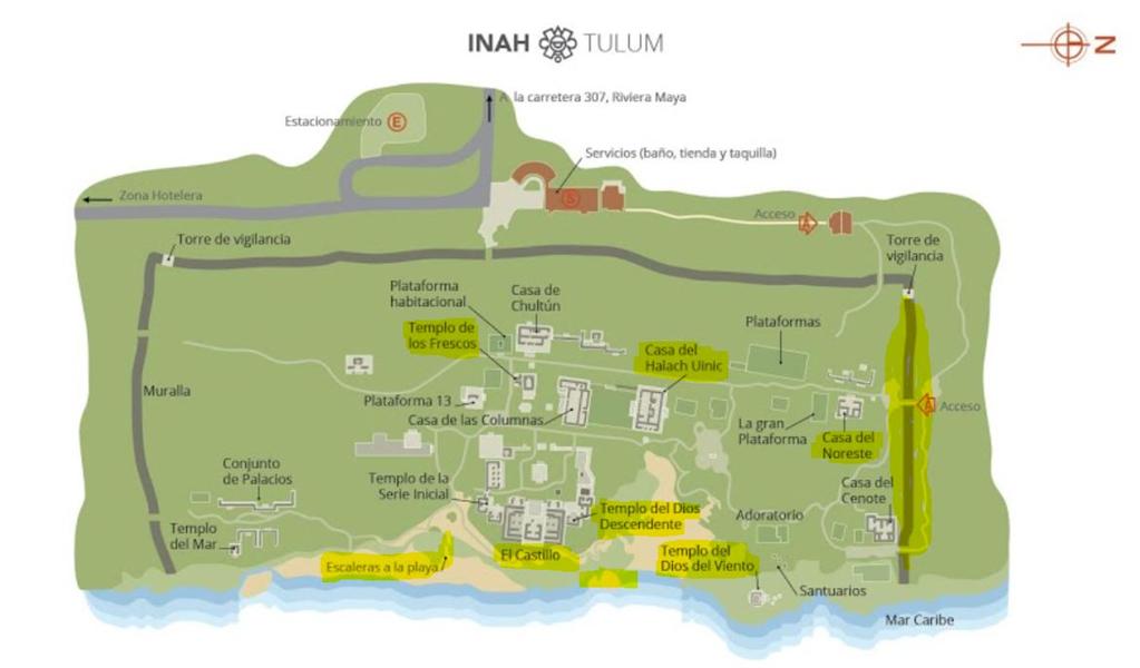 plan de tulum et structures
