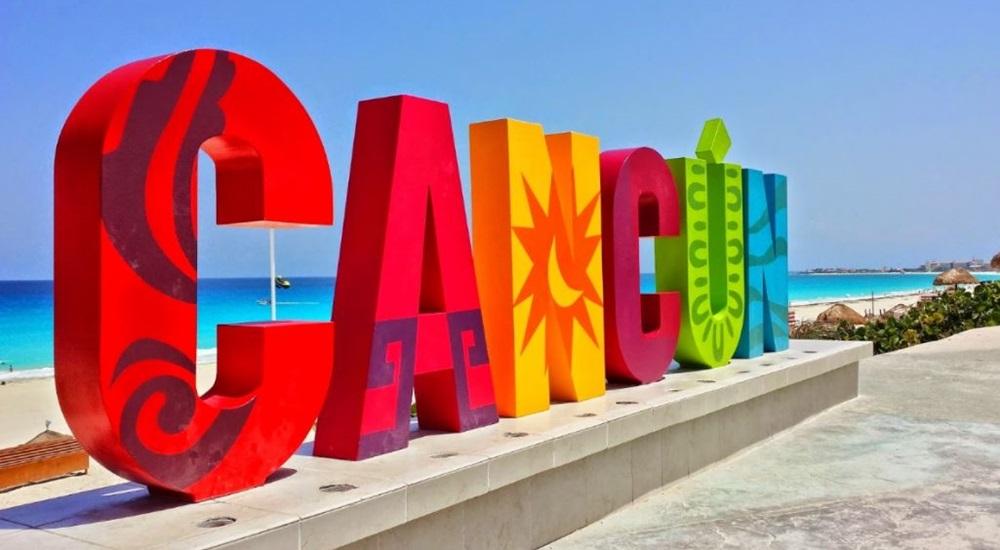 lettre cancun au bord de la plage