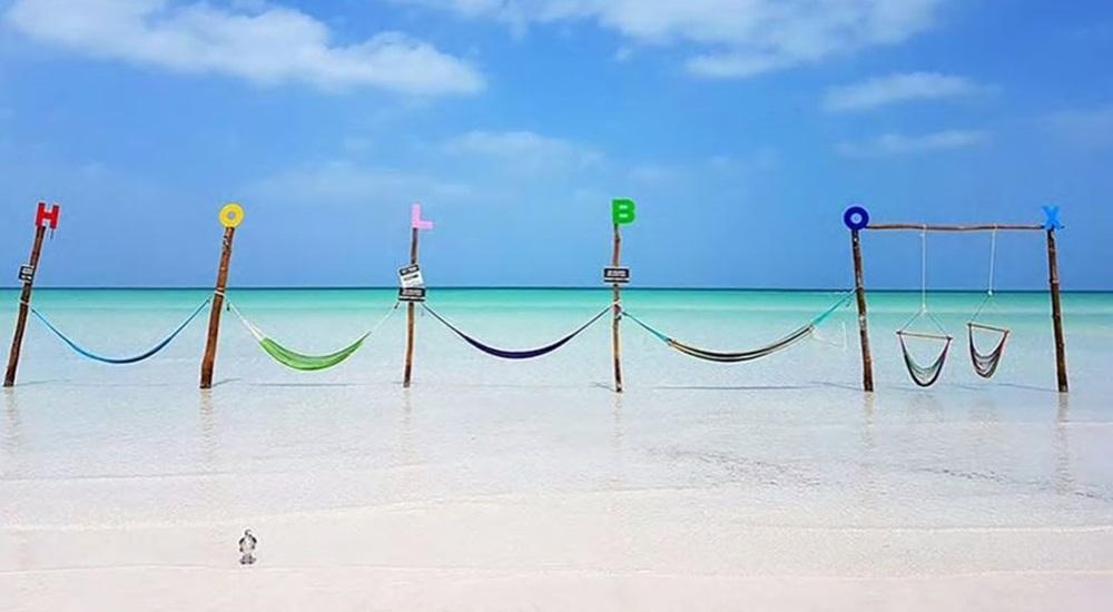 se détente à Holbox après avoir visiter le Yucatan en famille