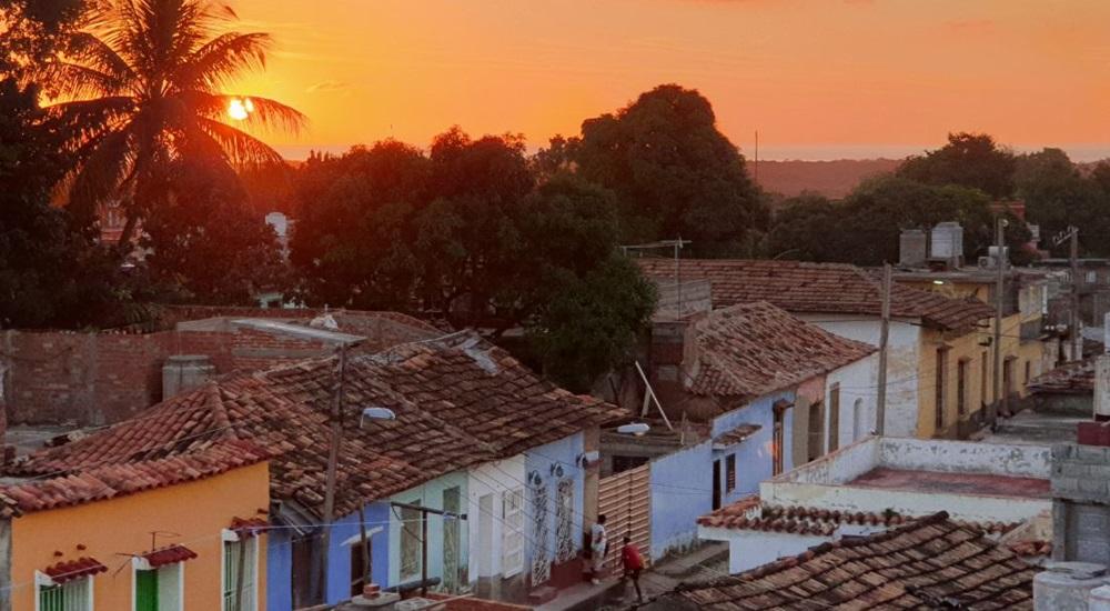coucher de soleil sur trinidad