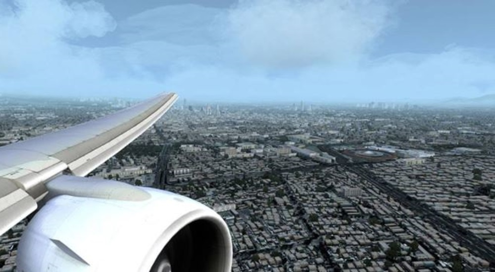 vue de Mexico depuis l'avion