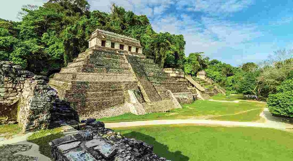 temple principal de palenque au Mexique