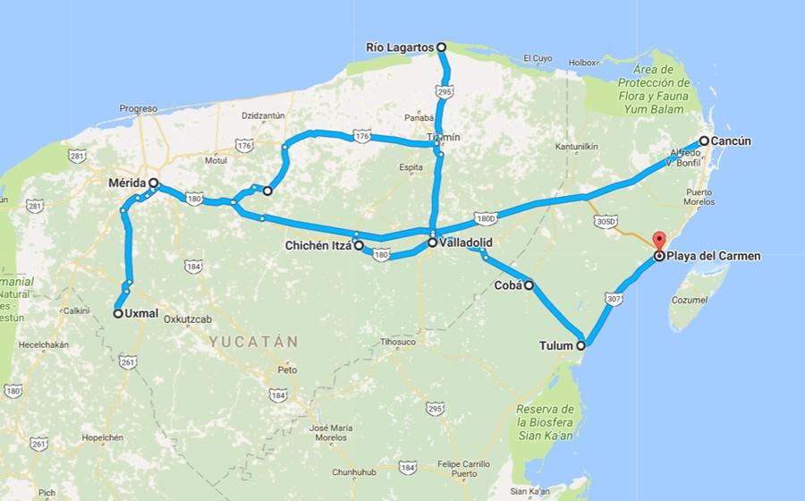 itinéraire du voyage de luxe au mexique